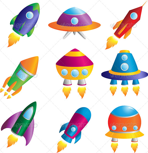 Rockets Icons - Objects Vectors