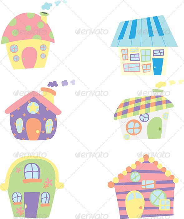 Houses Icons - Objects Vectors