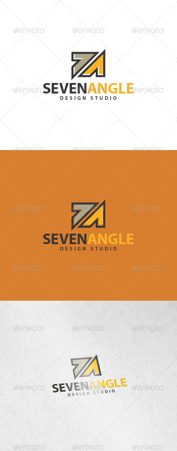 Seven Angle Logo - Numbers Logo Templates