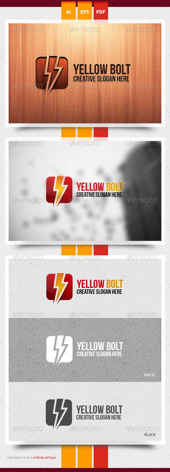 Yellow Bolt Logo Template - Objects Logo Templates