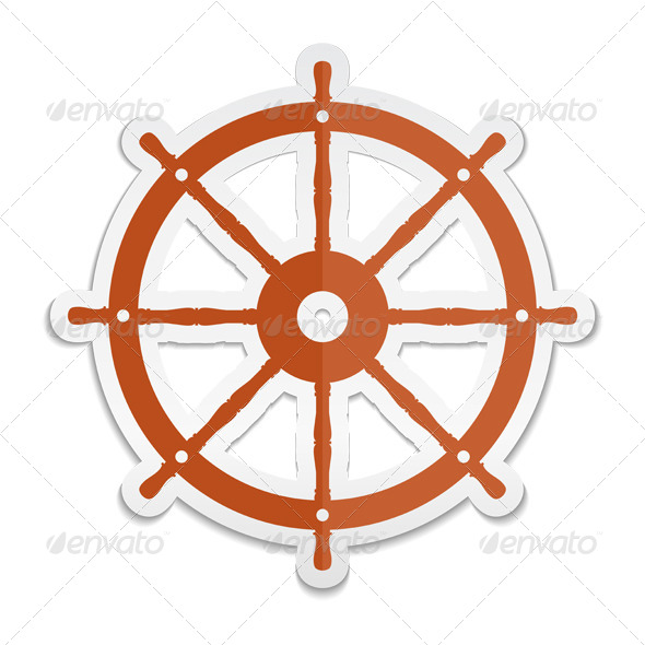 Ship Wheel Icon - Objects Vectors