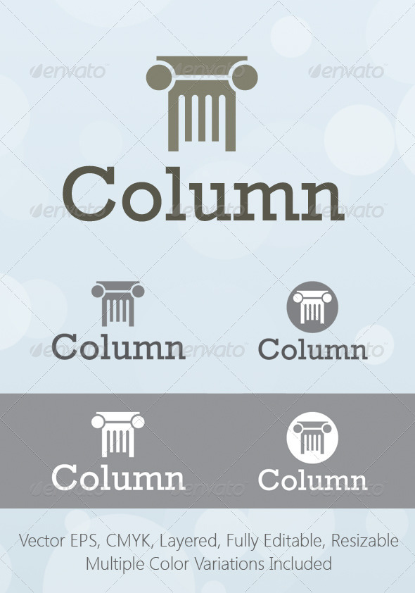 Column Consulting Logo Template - Objects Logo Templates