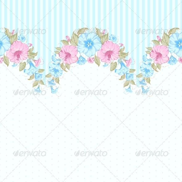 Pink Flower Seamless Pattern - Flowers & Plants Nature