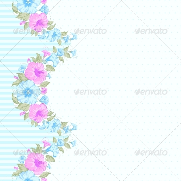 Pink Flower Seamless Pattern - Flowers & Plants Nature