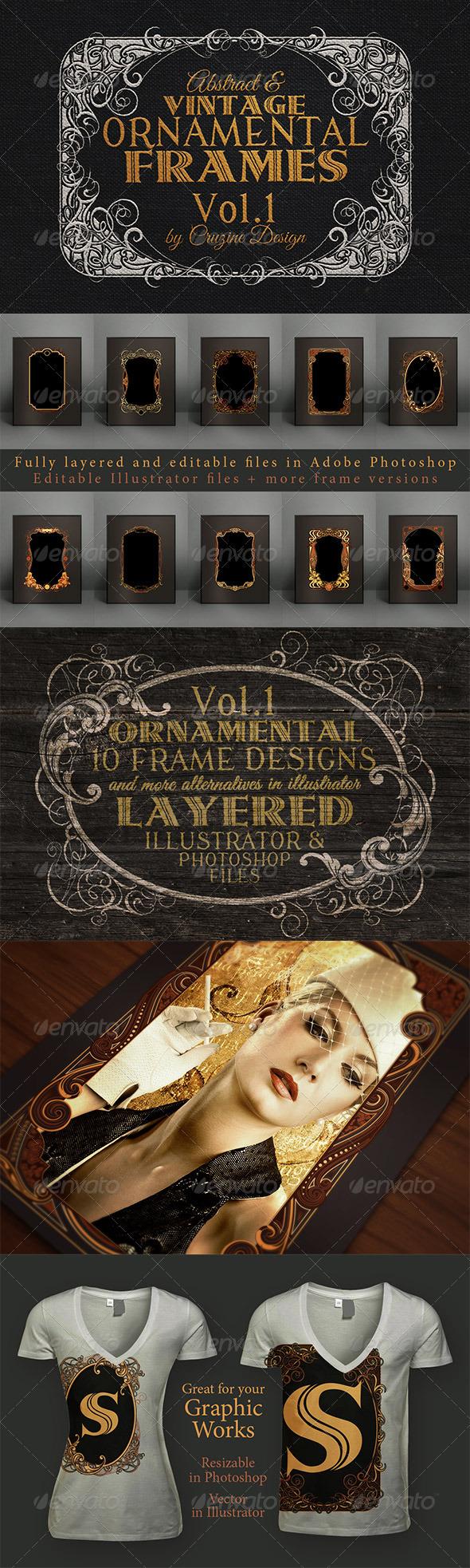 10 Frames Vol.1 - Vintage Ornament - Borders Decorative