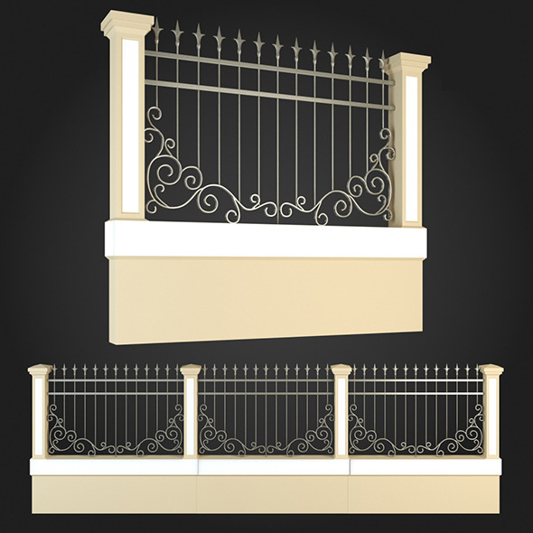 Fence 001 - 3DOcean Item for Sale