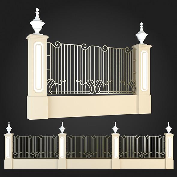 Fence 004 - 3DOcean Item for Sale