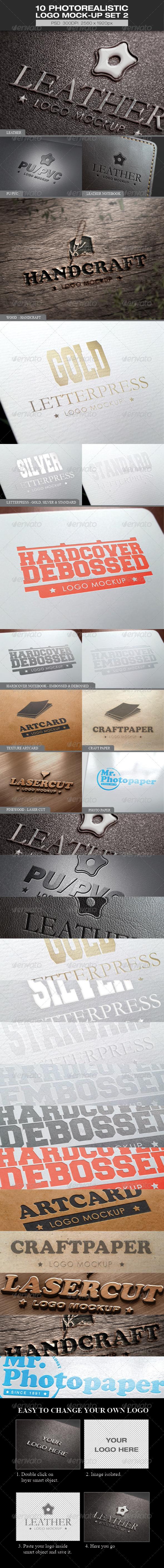 10 Photorealistic Logo Mock-up Set 2 - Logo Product Mock-Ups