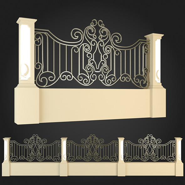 Fence 006 - 3DOcean Item for Sale