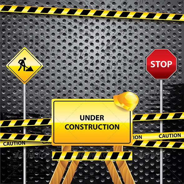 Under Construction Grunge Background - Technology Conceptual