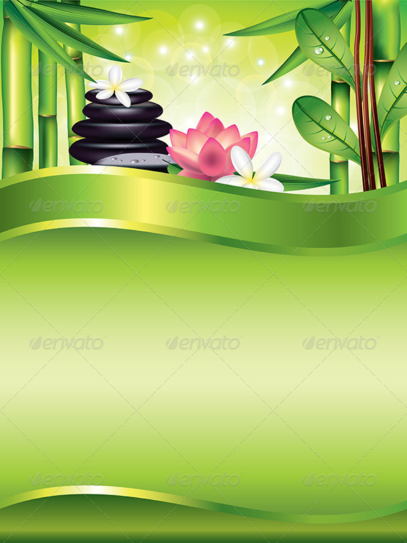 Spa Treatment Vertical Vector Background - Flowers & Plants Nature