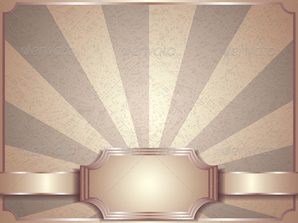 Vintage Vector Background, Retro Label - Retro Technology