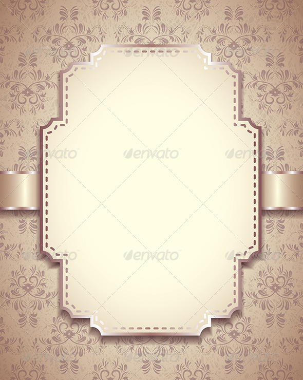 Vintage Vector Frame, Ornamental Background - Retro Technology