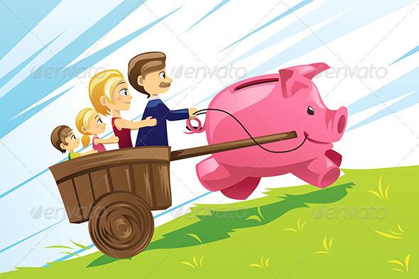 Family Financial Concept - Business Conceptual