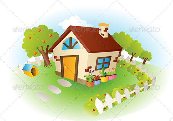 House Vector Illustration - Objects Vectors