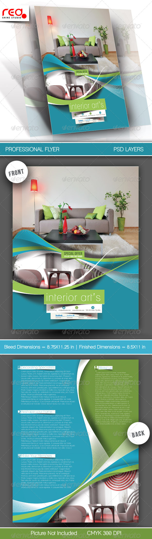 Architecture & Interior Designer Flyer Template - Corporate Flyers