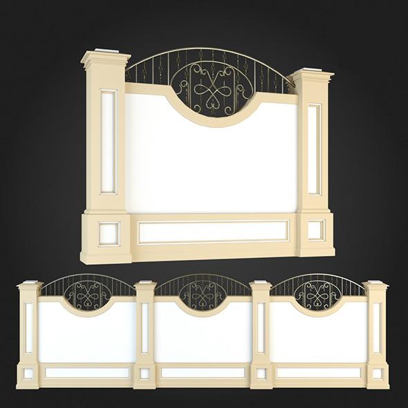 Fence 012 - 3DOcean Item for Sale