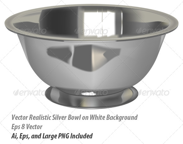 Metal Bowl - Objects Vectors