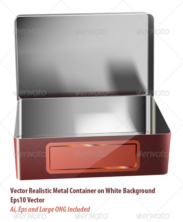 Metal Container - Objects Vectors
