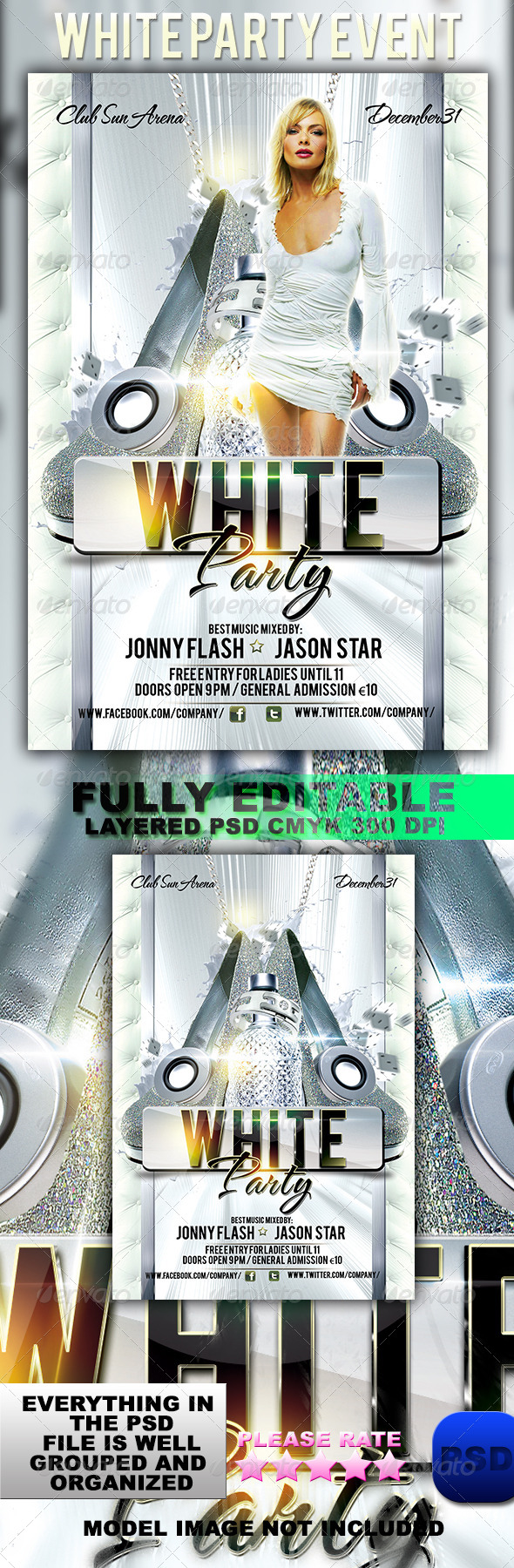 White Party Event - Events Flyers