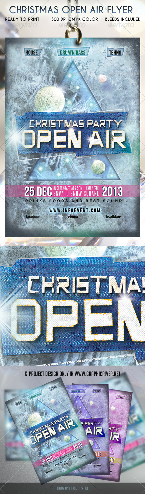 Christmas Open Air Flyer - Clubs & Parties Events