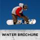 Winter Ski Bifold Brochure - GraphicRiver Item for Sale