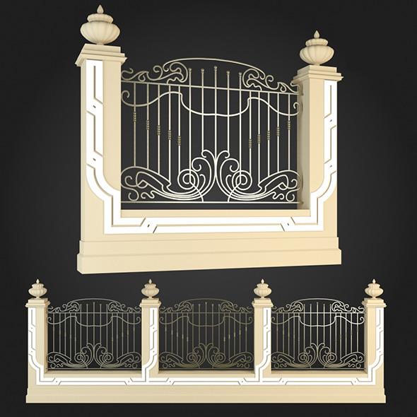 Fence 020 - 3DOcean Item for Sale