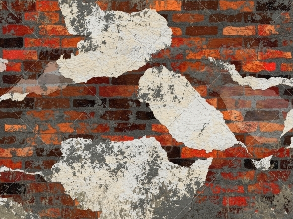 Old brick wall - Architecture 3D Renders