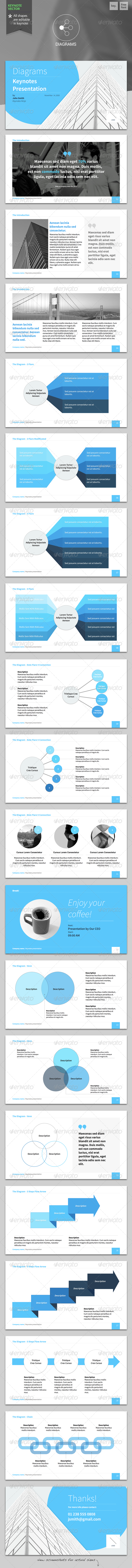 Diagrams - Keynote Template - Keynote Templates Presentation Templates