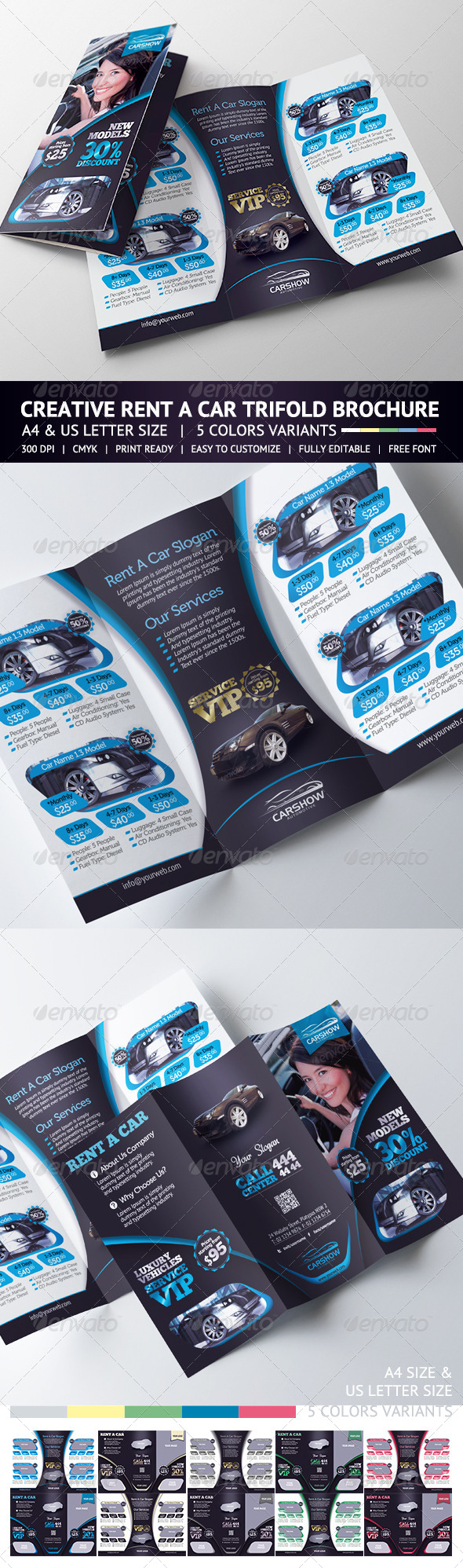 Rent A Car Trifold Brochure - Corporate Brochures