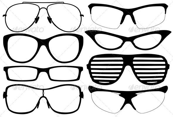 Glasses Silhouette  - Objects Vectors