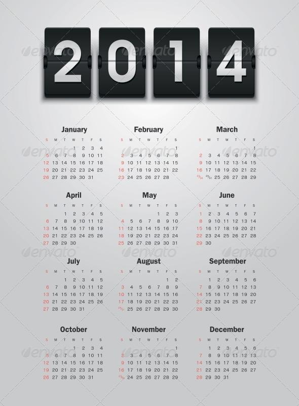 Calendar 2014 - New Year Seasons/Holidays