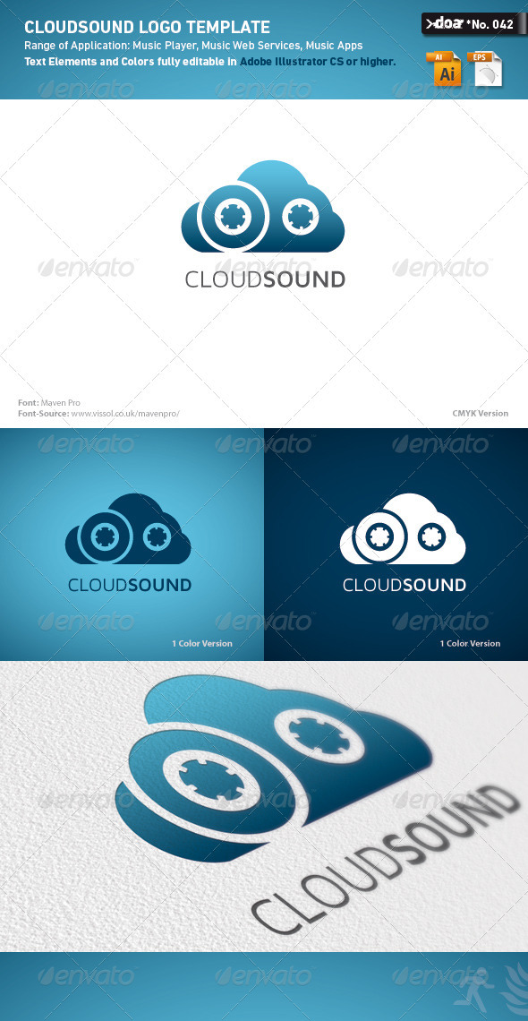 Cloud Sound Logo Template - Symbols Logo Templates