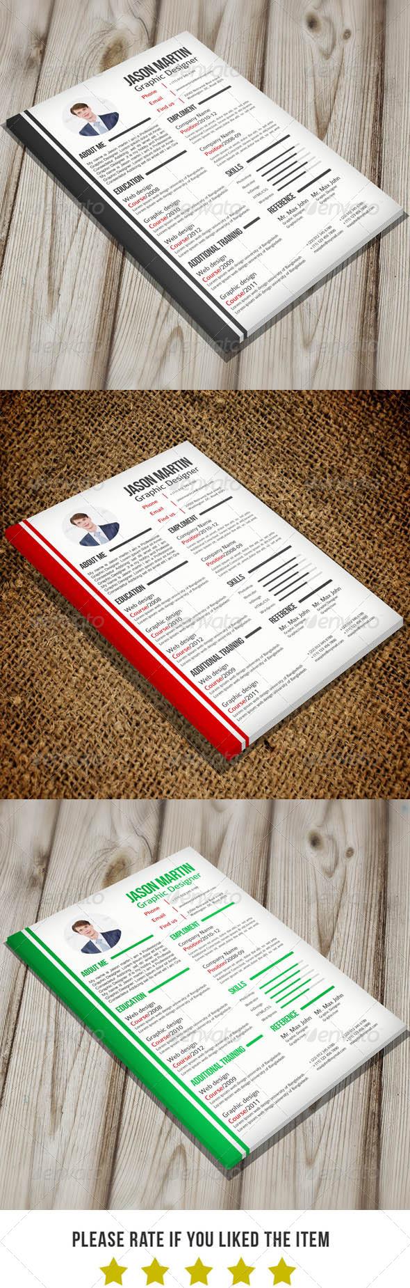 Simple Resume v3 - Resumes Stationery