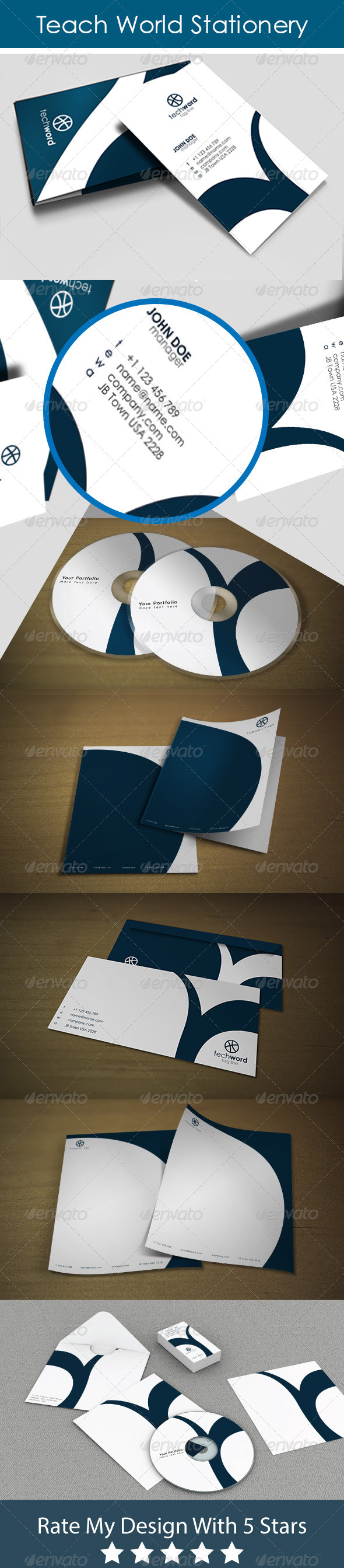 Tech Word Style Stationery - Stationery Print Templates