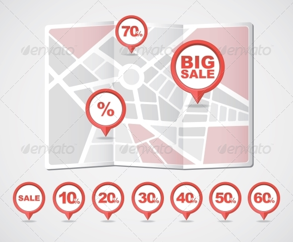 Mapping Pins Icons Sale - Retail Commercial / Shopping