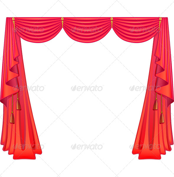 Scarlet Curtains - Backgrounds Decorative