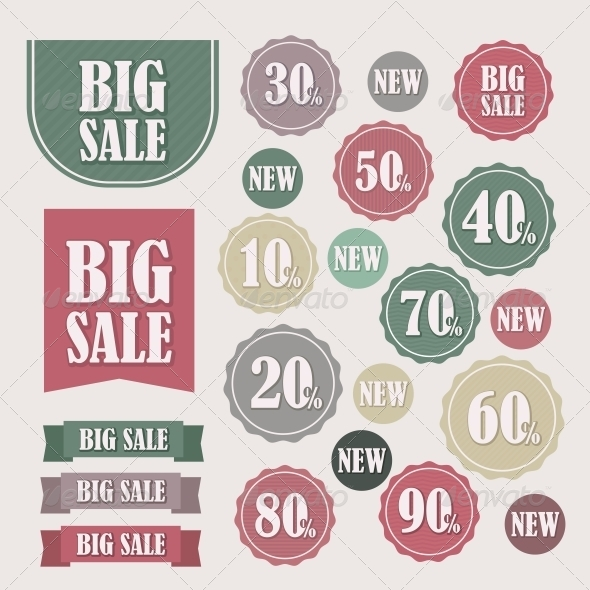 Set of Sale Labels and Banners - Retail Commercial / Shopping