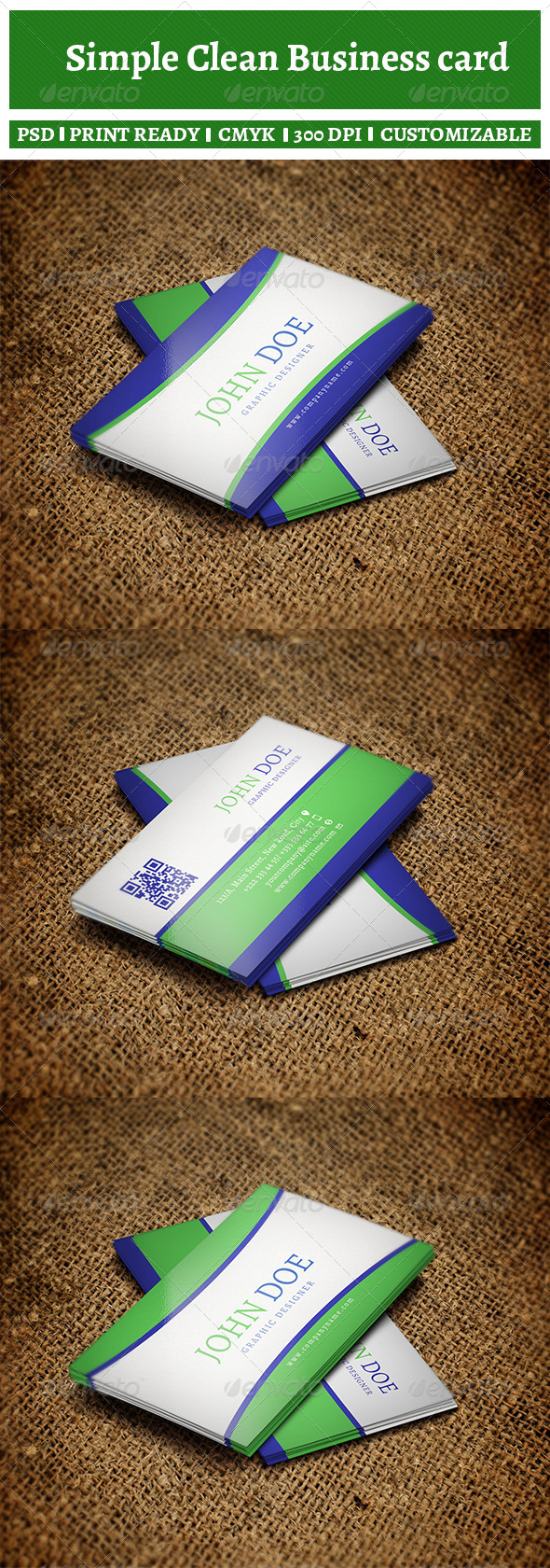 Simple Clean Business Card    - Corporate Business Cards