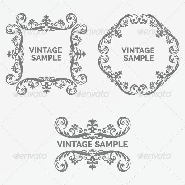 Vintage Frame 77 - Decorative Vectors