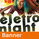 Electro Night v1.0 - Banner Facebook - GraphicRiver Item for Sale