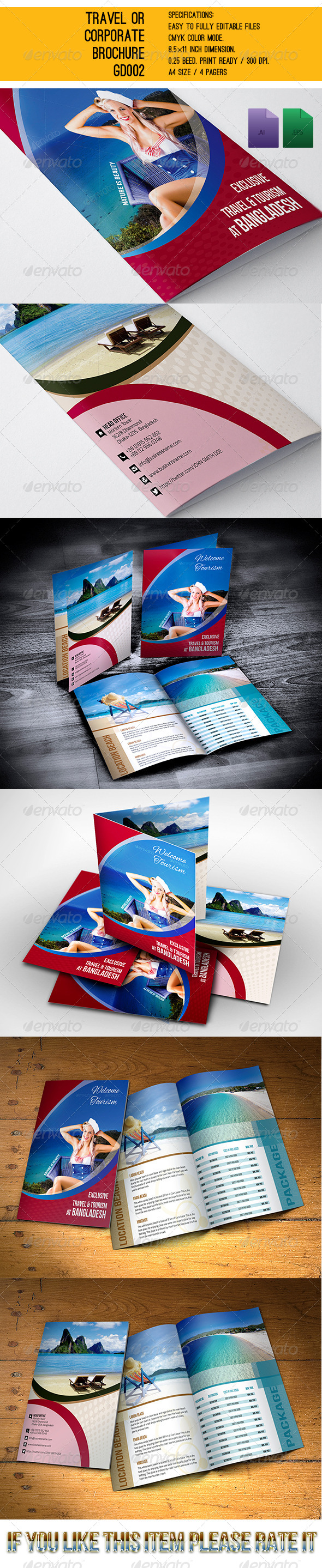 Travel or Corporate Brochures GD003 - Corporate Brochures