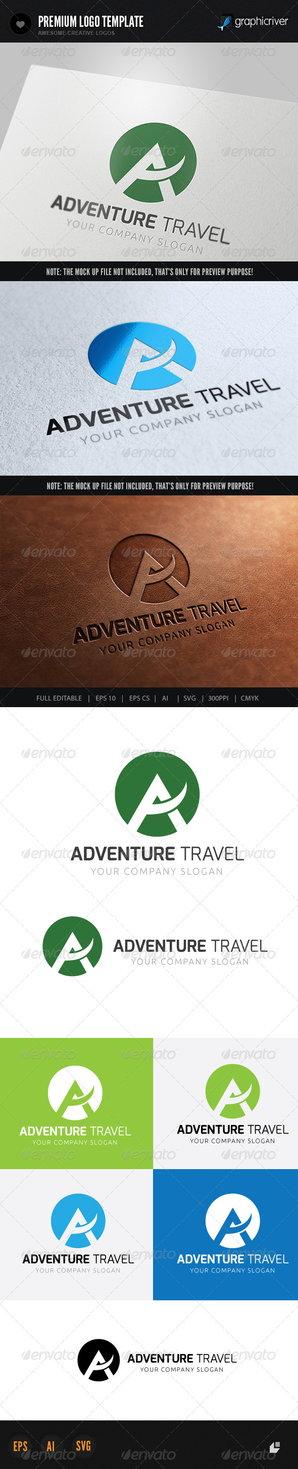 Adventures Travel - Letters Logo Templates