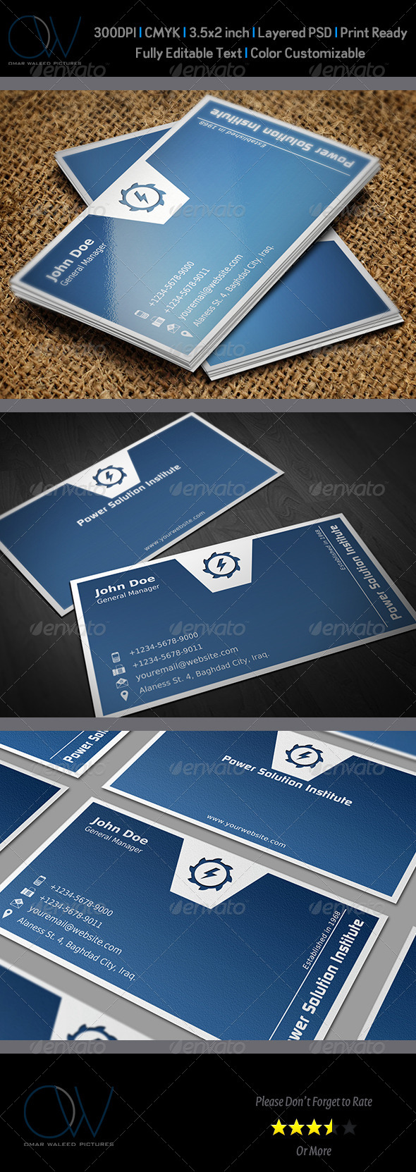 Corporate Business Card Template Vol.38 - Corporate Business Cards