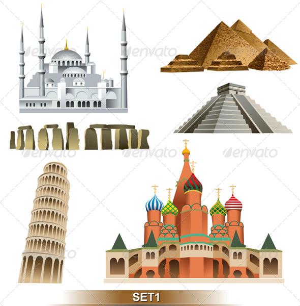 World Landmark - Travel Conceptual