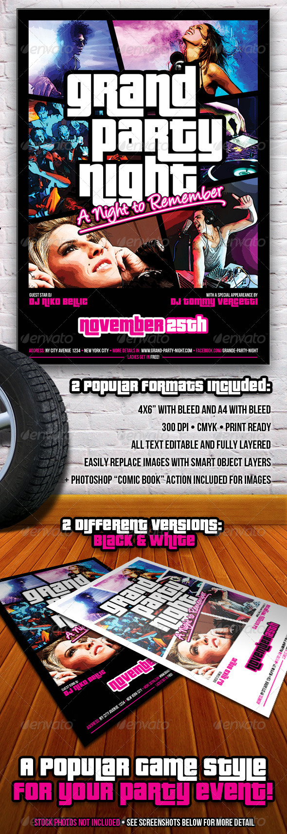 Grand Party Night Flyer - Events Flyers
