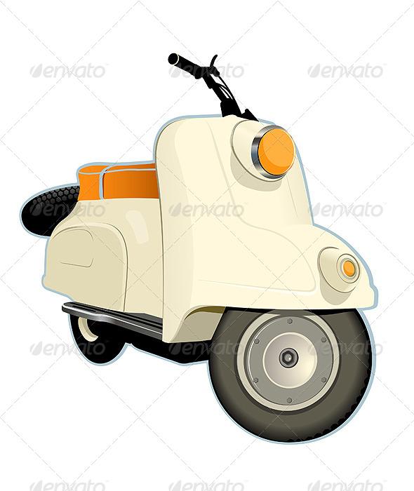 Retro Scooter - Vectors