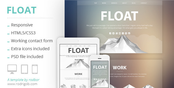 Float – Responsive HTML One-Page Template