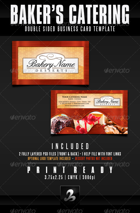 Bakers catering business card templates updated by creativb bakers catering business card templates updated industry specific business cards flashek Gallery