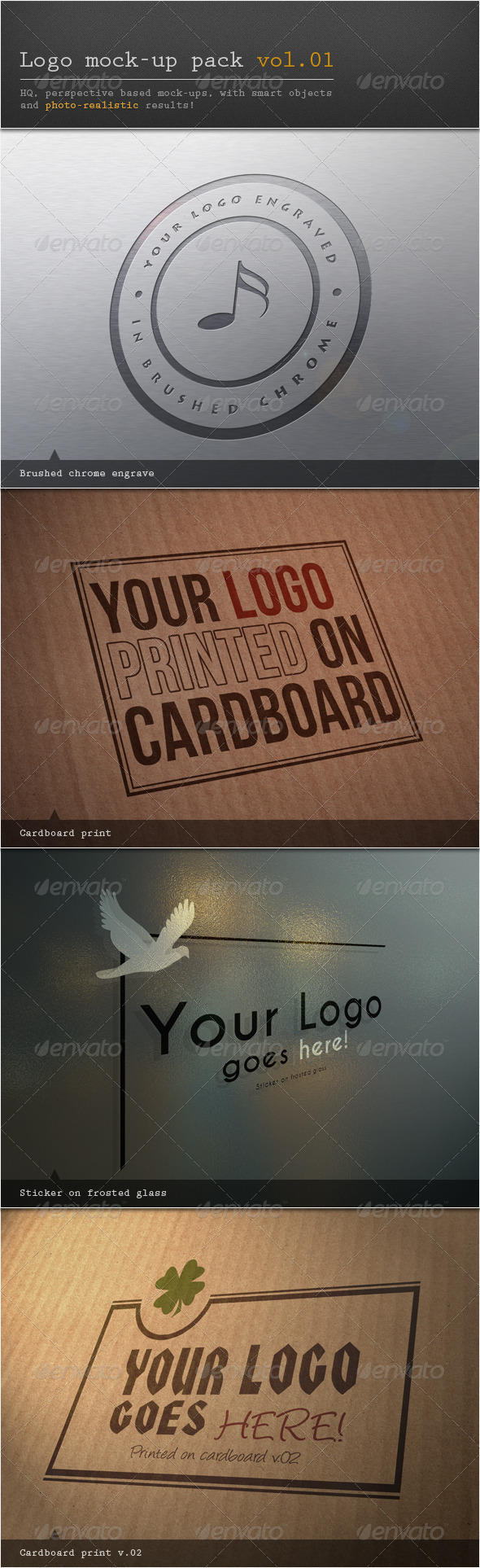 Logo Mock-up Pack Vol.01 - Logo Product Mock-Ups